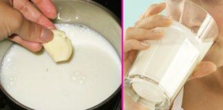 czosnek w mleku