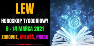 Horoskop tygodniowy LEW 8 - 14 marca 2021